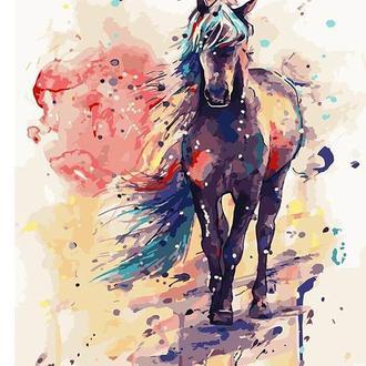 Набор для акриловой живопись по номерам BrushMe Фантастическая лошадь 40 х 50 см картонная коробка (G108)