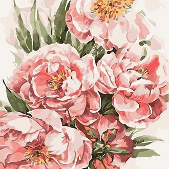 Набор для акриловой живопись по номерам Идейка Пионы для любимой 40 х 50 см (КНО3046)