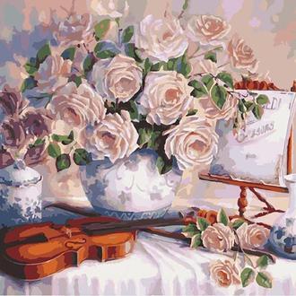 Набор для акриловой живопись по номерам Идейка Пурпурные розы 40 х 50 см (КНО5518)