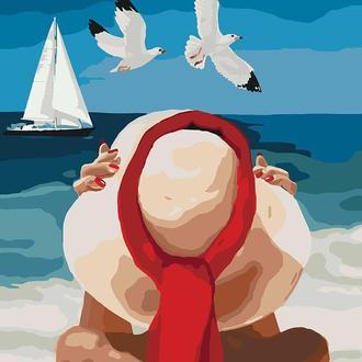Набор для акриловой живопись по номерам Идейка Морское наслаждение 40 х 50 см (КНО4502)