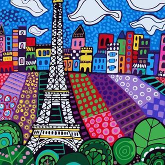 Набор для акриловой живопись по номерам Идейка Облака в Париже 40 х 50 см (КНО2165)