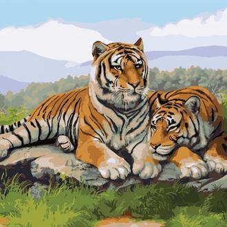 Набор для акриловой живопись по номерам Идейка После охоты 40 х 50 см (КНО2484)