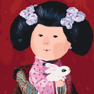 Набор для акриловой живопись по номерам Идейка Гапчинская Мій кролик 40 х 50 см картонная коробка (KNG025)