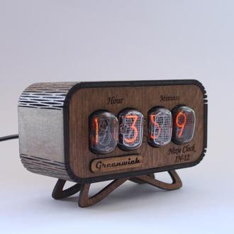 Уникальные часы ИН-12 в ретро стиле - Nixie clock ИН-12