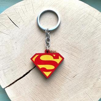 """Деревянный брелок """"Супермен"""""""
