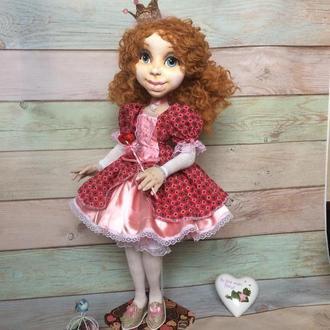 Принцесса- текстильная интерьерная кукла