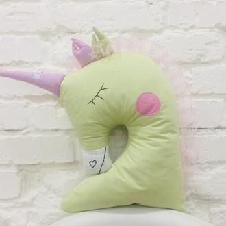 единорог подушка-игрушка для сна-подарки для девочки на день рожденья-подарки для детей