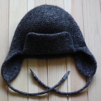 Теплая валяная шапка