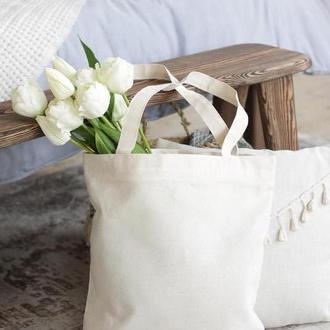 Белая эко сумка, Женская сумка, Хлопковый шоппер