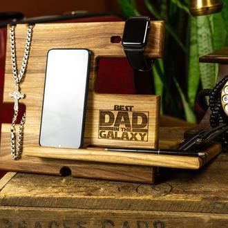 Подарок мужу, органайзер для офиса, деревянный органайзер