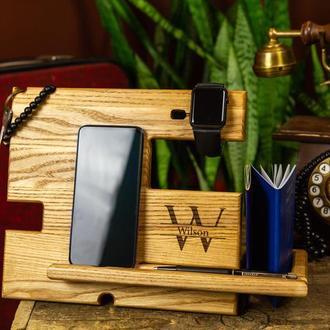 Деревянный органайзер, подарок другу, новогодний подарок, подарок шефу