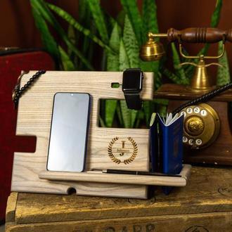 Подставка, для часов, для телефона, подарок, корпоративный подарок