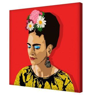 "Принт на холсте ""Фрида скучает по тебе"" - картина Таниты Кало"