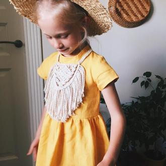 Льняное платье, family look