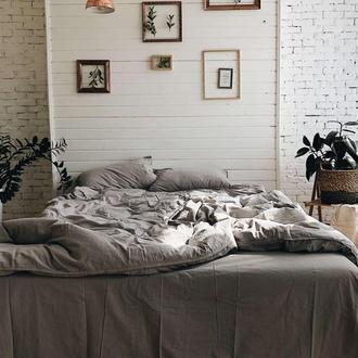 Комплект белья из вареного хлопка Leglo Grey