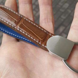 Брелок для ключей из кожи крокодила