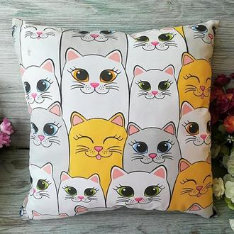 Подушка котейки, 35 см * 35 см