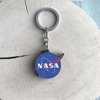 """Деревянный брелок """"НАСА"""""""