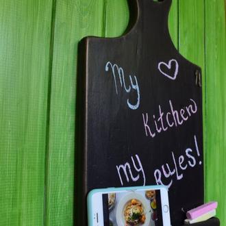 Декоративная графитовая кухонная доска для записей