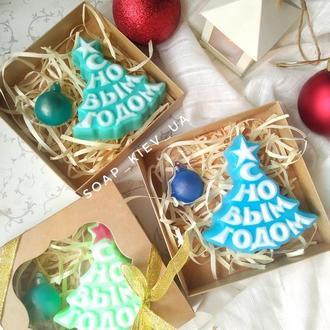 "Новогодний набор мыла ""Ёлочка и ёлочный шарик"""