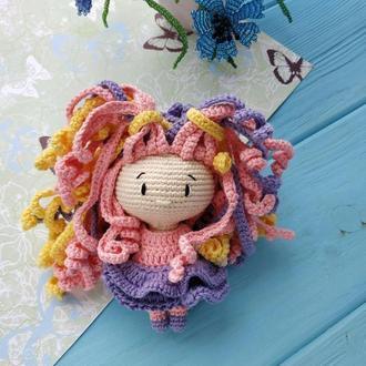 Кукла Мари. Вязаная девочка. Вязаная кукла.