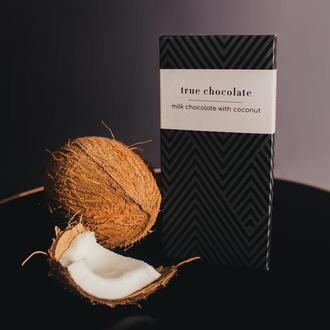 Премиальный шоколад молочный 50% с кокосом