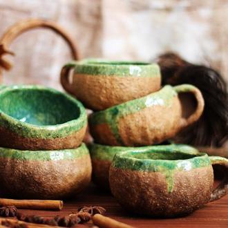 Чашки керамические. Ручная работа.