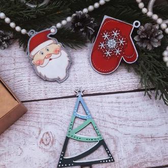 Подарочный набор новогодних деревянных игрушек №5