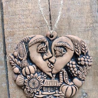 Сердце-Оберег Любви, керамика
