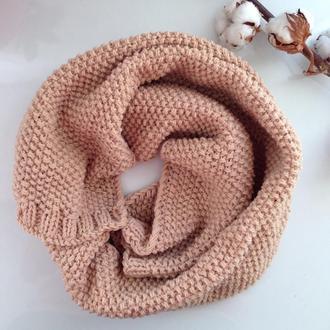 "100% Шерстяной бежевый шарф ""Кемел"""
