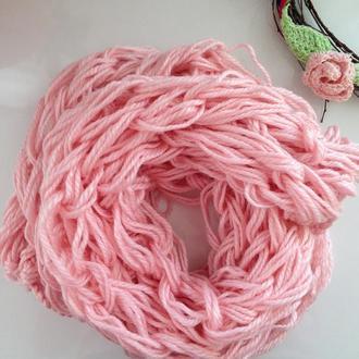 Розовий шарф ЗЕФИР