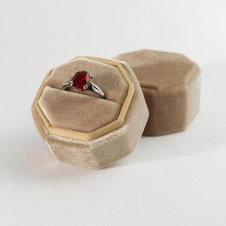 Бархатная коробочка для кольца (Honey Gold)