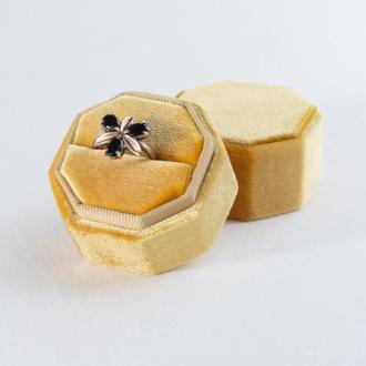 Бархатная коробочка для кольца (Golden Olive)