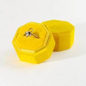 Бархатная коробочка для кольца (Sunny Yellow)