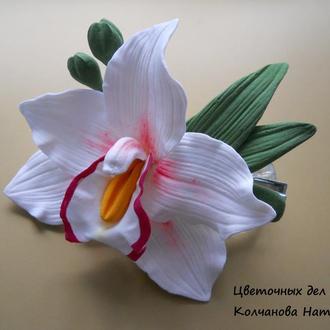 Заколка зажим Орхидея Цимбидиум