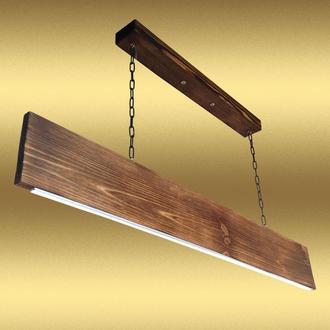 Светодиодная люстра на подвесах из дерева и металла. Модель PL0101