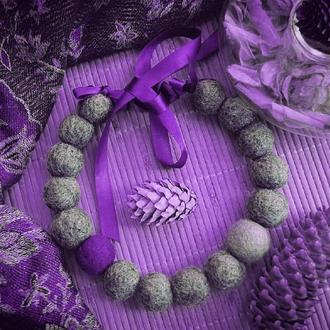 Бусы Цвет настроения фиолетовый