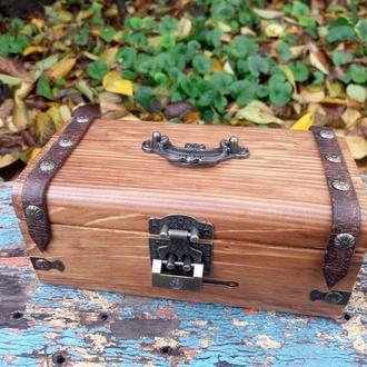 Скринька з замком скриня рустик дерев'яну скриньку чоловіча скринька для грошей купюрница