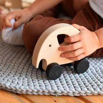 Деревянная игрушка каталка Слоник