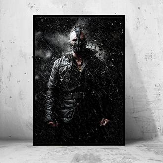 """Постер на ПВХ """"Batman: The Dark Knight Rises / Бэтмен: Тёмный рыцарь: Возрождение легенды"""" #3"""
