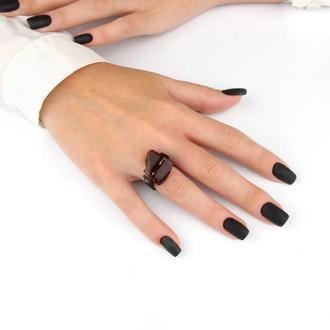 Каучуковое кольцо с натуральным янтарем