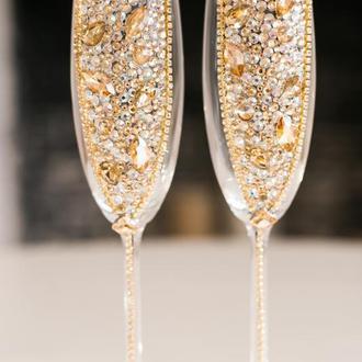 Свадебные бокалы Золотая река