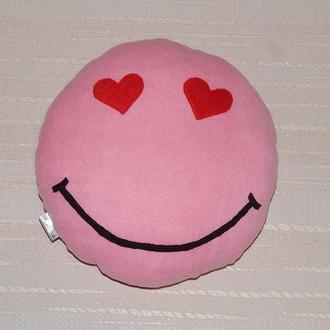 """Подушка-игрушка """"Влюбленный смайл"""", 14 Февраля, 8 Марта, Подарок,"""