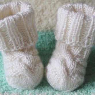 Белые носочки с ангорой