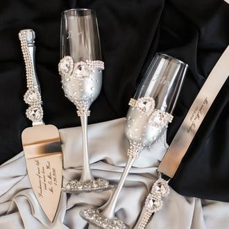 Свадебный набор Кристальное сердце