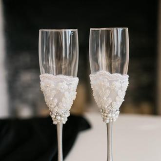 Бокалы для свадьбы Белая сакура