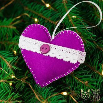 """Новогоднее ёлочное украшение """"Загадочное сердце"""""""