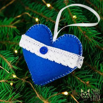 """Новогоднее ёлочное украшение """"Зимнее сердце"""""""
