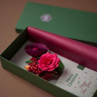 Різдвяна листівка в коробці