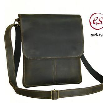 Мужская кожаная сумка , мужская кожаная сумка через плечо , кожаная сумка планшет , кожаные сумки